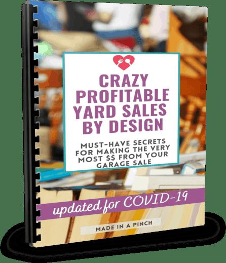 crazy profitable yard sales by design ebook cover