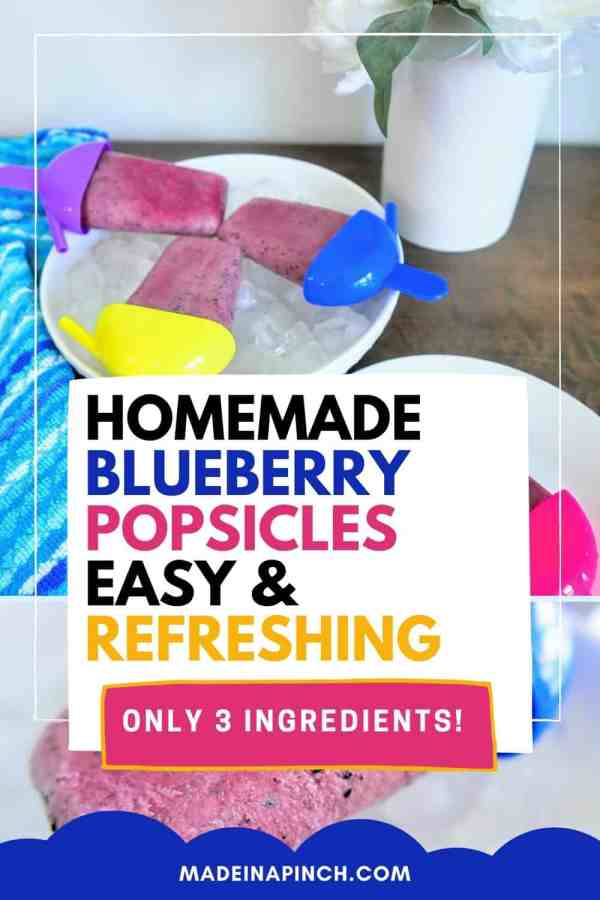 blueberries and cream popsicles