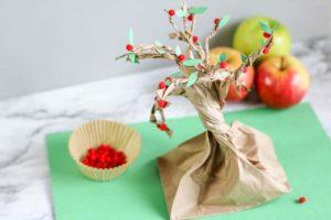 apple tree paper bag craft