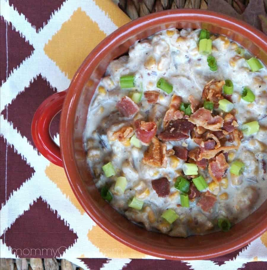 slow cooker bacon and corn chowder