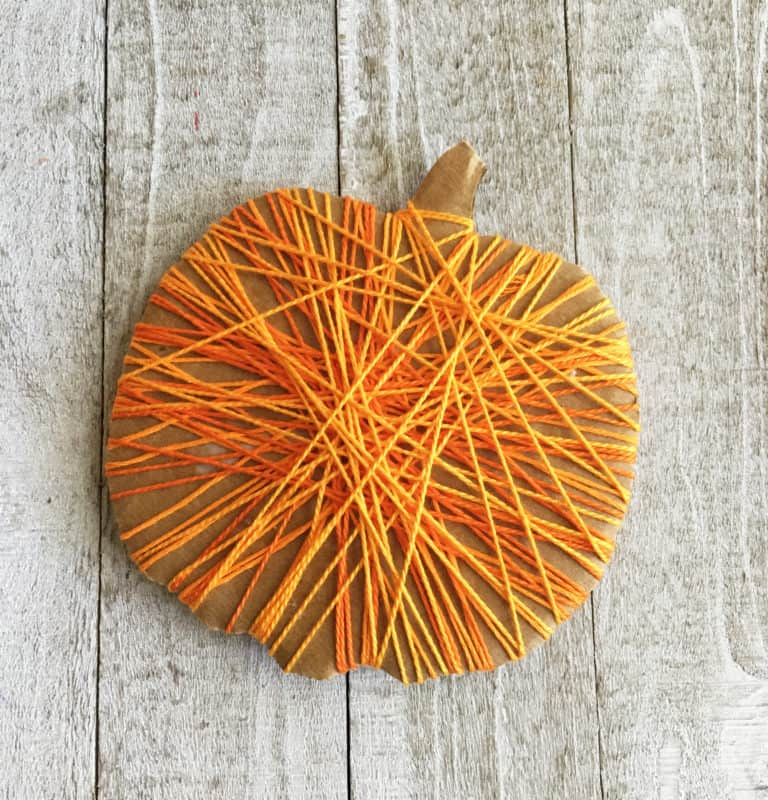 Halloween arts and crafts with yard