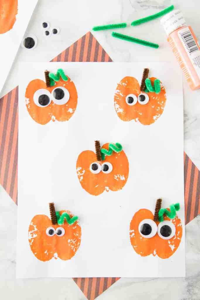 Apple stamped pumpkins