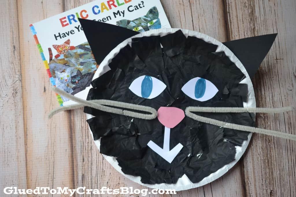 Black cat paper plate craft