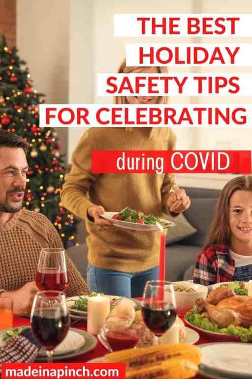 holiday safety tips pin image