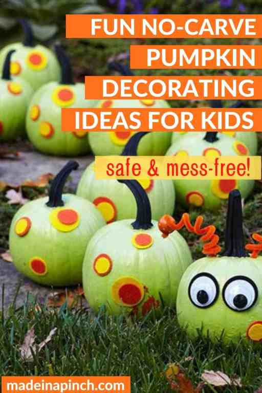 25 Pumpkin Decorating Ideas For Kids Without Carving