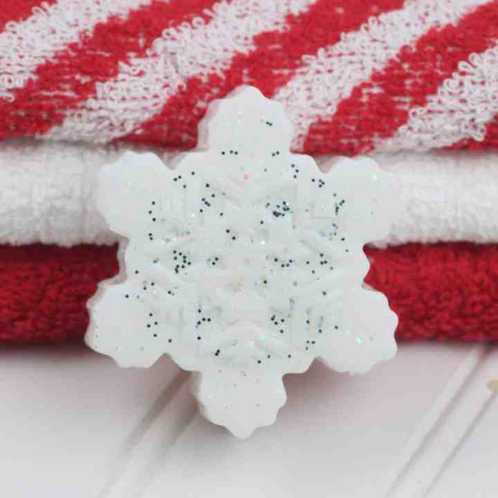 sparkling snowflake soap bar