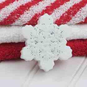DIY sparkly snowflake soap