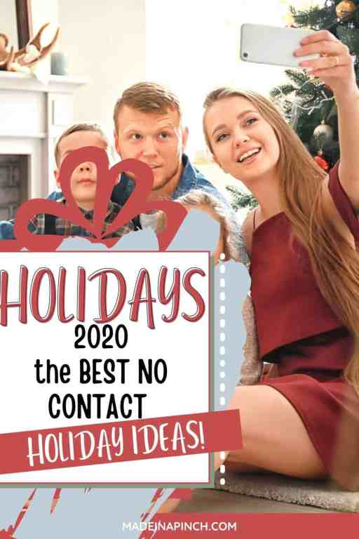 No Contact Christmas - fun and safe alternate holiday party ideas pin image