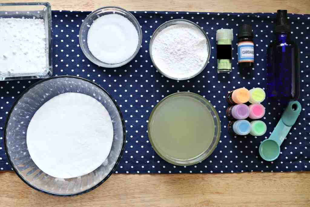 ingredients for bath bombs