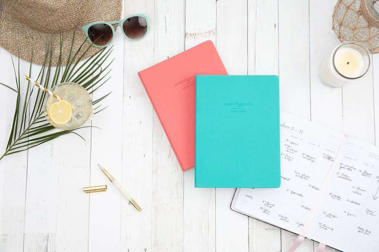momAgenda planners for moms on a table