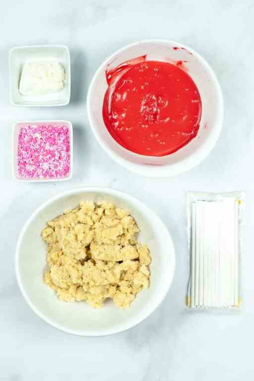 ingredients for easy cake pops