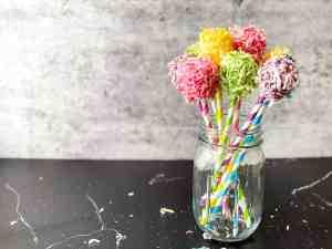 Homemade Dr. Seuss Truffula Trees in a jar