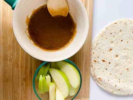 TikTok viral tortilla wrap making our caramel apple version
