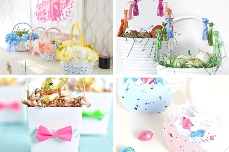 DIY basket ideas collage #4