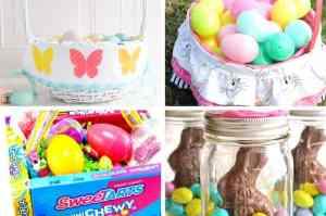 homemade Easter basket ideas collage