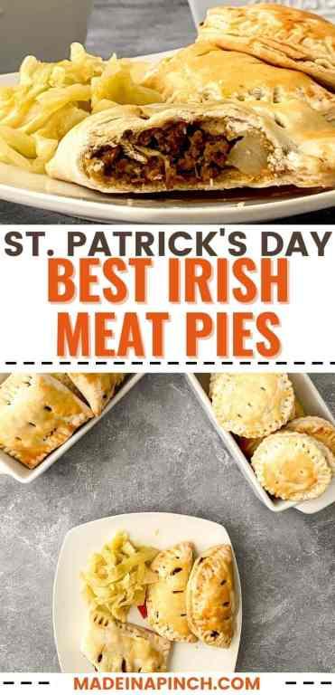 Irish meat pie recipe long pin image