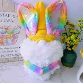 DIY bunny gnome