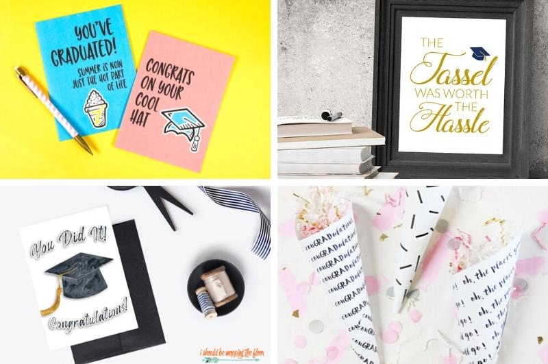 free graduation gifts collage image