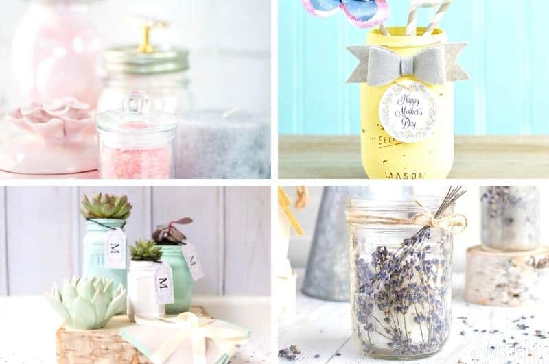 easy DIY Mother's Day mason jar gifts
