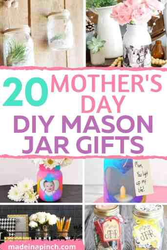 Mother's Day mason jar gifts pin