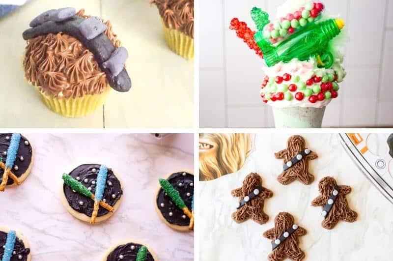 DIY Star Wars snacks image collage