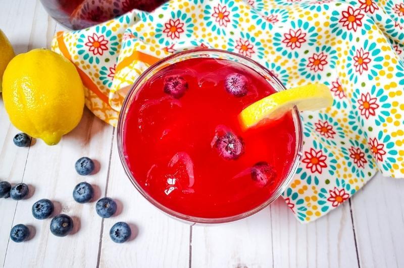 blueberry lemonade from above