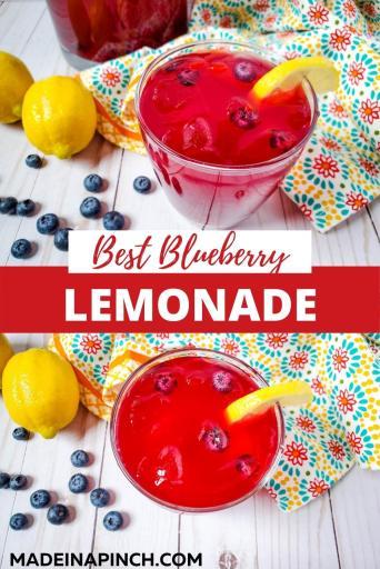 homemade blueberry lemonade pin image