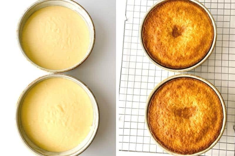 cake preparation collage2