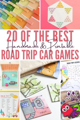 DIY and printable road trip games for kids