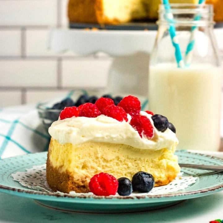 slice of berry cheesecake