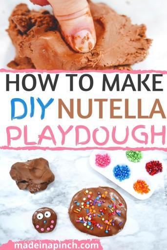 homemade edible playdough pin image