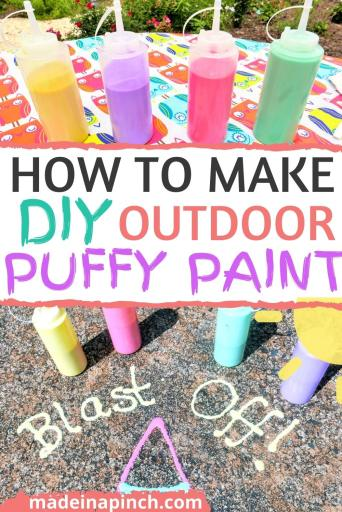 how to make DIY outdoor puffy paint