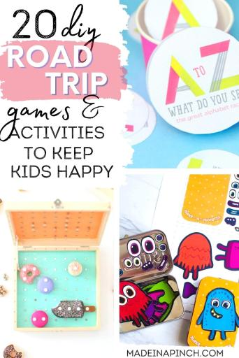 DIY games to play on a road trip pin image