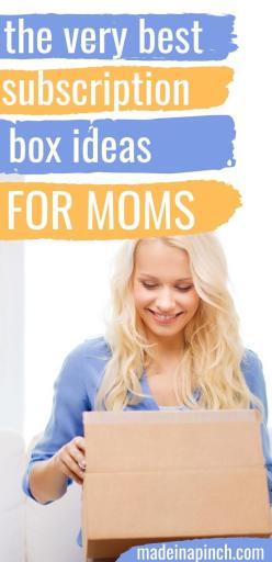 best subscription box ideas for moms pin image