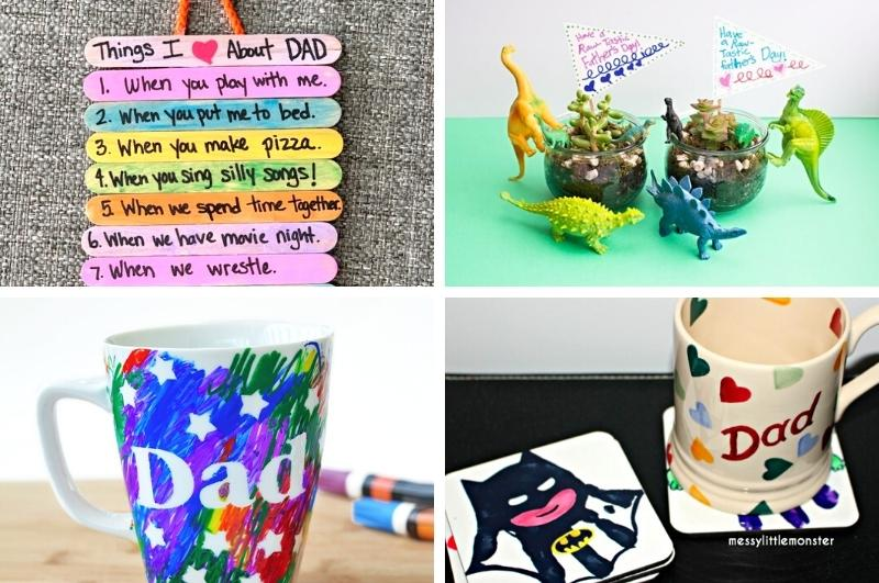 Father's Day gifts kids can make image collage