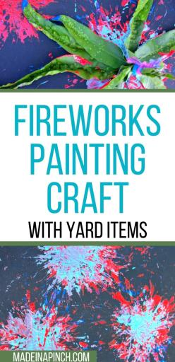 Fireworks painting craft for kids long pin image