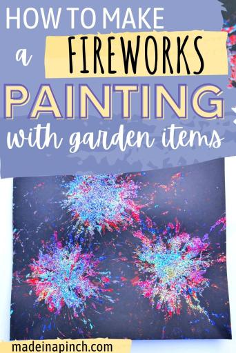 Fireworks painting craft pin image