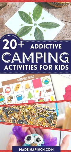 camping activities for kids long pin