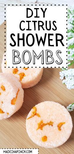 DIY citrus shower bombs pin image