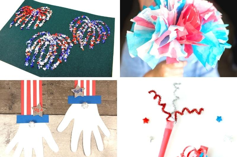 4th of July crafts for kids collage image