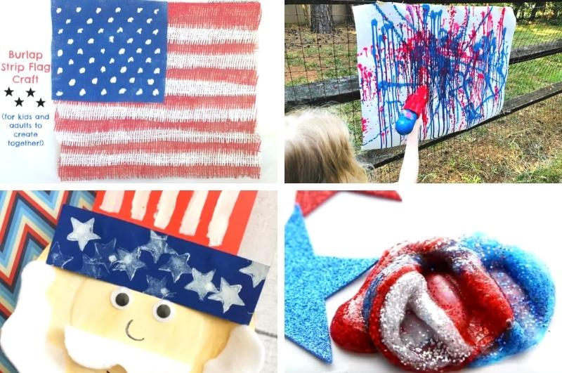 July 4th crafts for kids collage image
