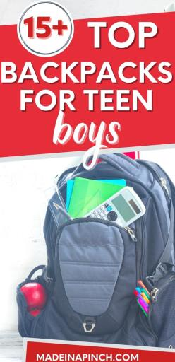 cool backpacks for teen boys long pin image