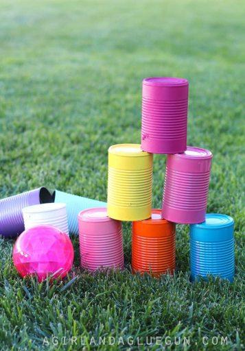 DIY backyard tin can activity