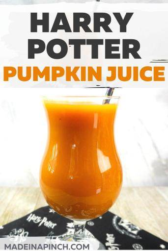 Harry Potter pumpkin juice pin image