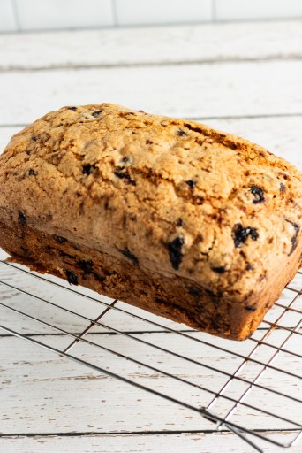 loaf of lemon blueberry zucchini bread
