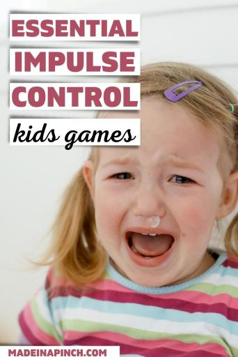 impulse control activities for kids pin image