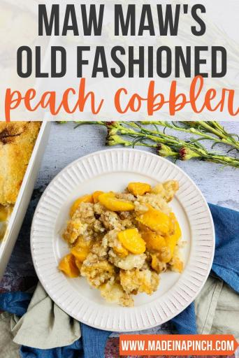peach cobbler pin image