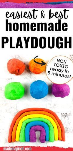 homemade playdough long pin image