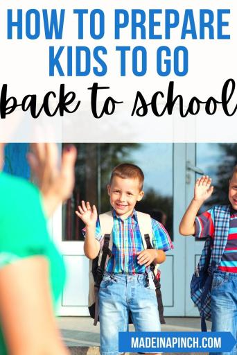 back-to-school preparation tips and tricks pin image