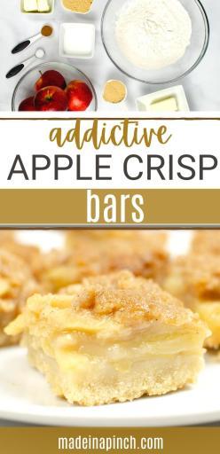apple crumble bars long pin image